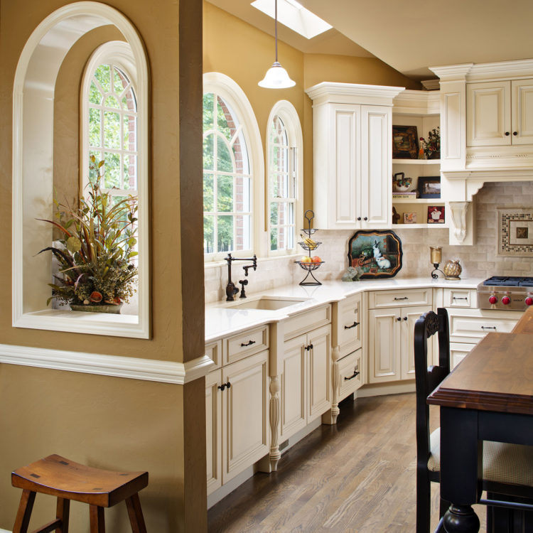 Renovated kitchen in Atlanta, GA area designed by Kitchen & Bath Concepts of Roswell, GA.